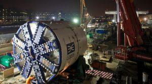 Crossrail London tunnel boring machine